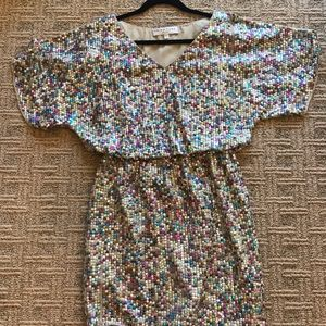 Trina Turk sequin dress. Colorful